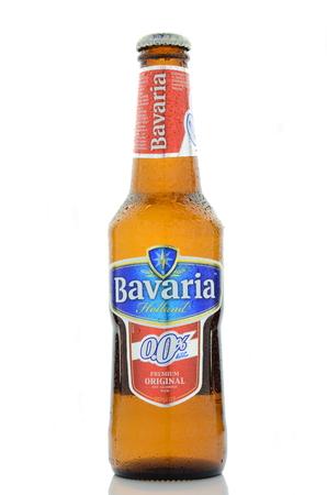 ババリア ビールは、白い背景で...