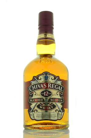 Chivas Regal whiskey isolated on white background Editorial