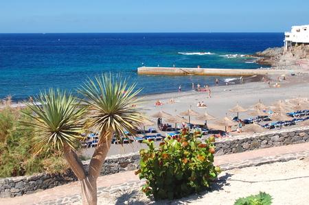 Beautiful beach in Callao Salvaje on Tenerife, Spain Stock Photo