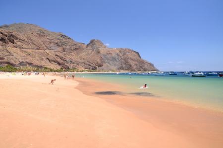 playa: Picturesque gorgeous playa de las Teresitas on Tenerife island, Spain