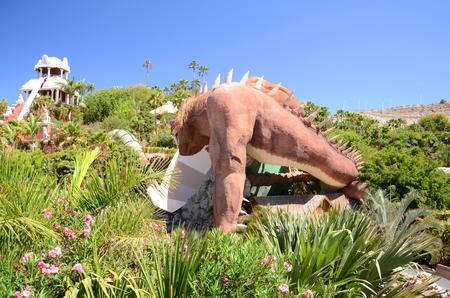 adeje: The Dragon slide in Siam Park on Tenerife Editorial