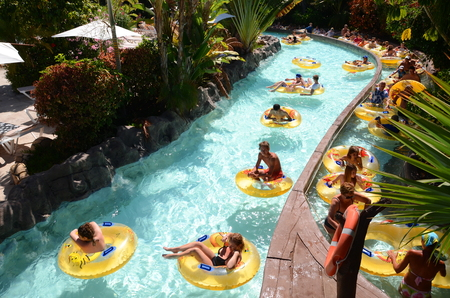 Mai Thai River in Siam Park on Tenerife, Spain