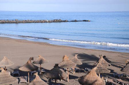 the americas: Sandy Playa de las Cuevitas in Playa de las Americas in the south of Tenerife, Spain