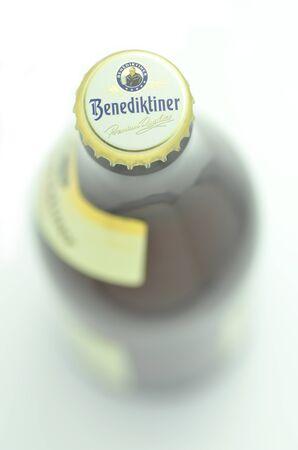 Benediktiner white beer isolated on white background