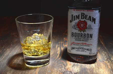 bourbon: Jim Beam bourbon whiskey
