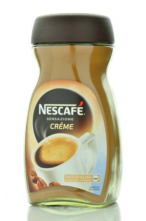 nescafe: Nescafe creme instant coffee isolated on white background
