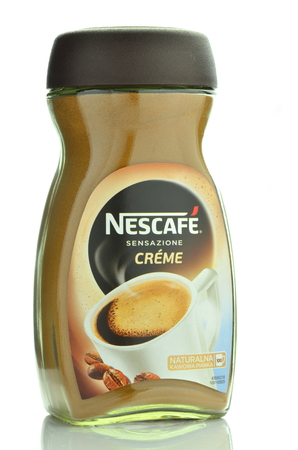 nescafe: Nescafe creme instant coffee isolated on white background