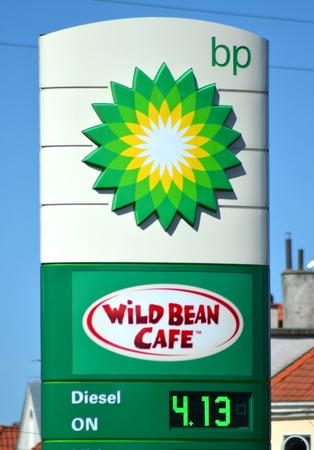 bp: sign of BP against blue sky