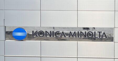 kodak: Logo of Konica Minolta.
