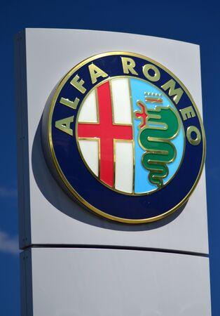 alfa: Emblem of Alfa Romeo Editorial