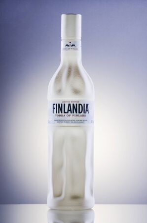 Finlandia vodka on gradient background