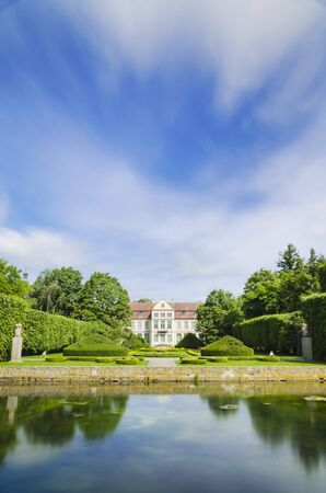 the abbot: Oliwa park in Gdansk, Poland Stock Photo