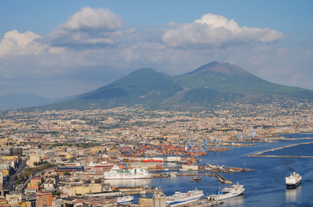 Picturesque summer panorama of Naples, Italy