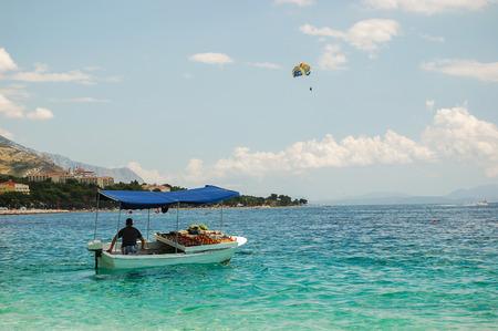 Picturesque dalmatian beach in baska voda in croatia