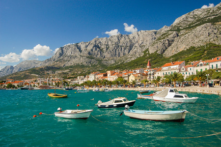 Picturesque dalmatian landscape of makarska in croatia