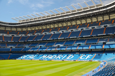 Santiago Bernabeu Stadium of Real Madrid, Spain. 免版税图像 - 83197668
