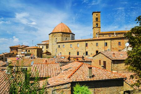 Spectacular landscape of the old town of Volterra in Tuscany, Italy