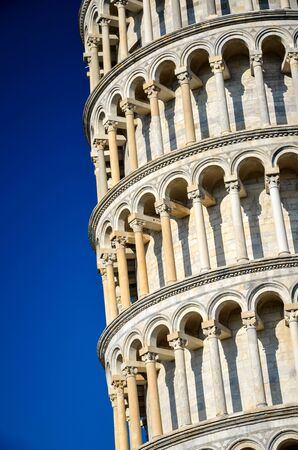 The famous Leaning Tower on the Piazza Miracles in Tuscany, Italy