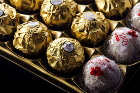 Ferrero collection chocolate products.