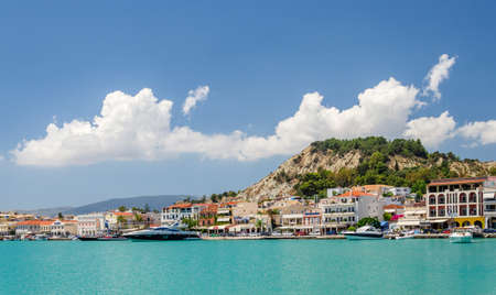 Picturesque landscape of Zakynthos town. Zakynthos island on Ionian Sea is situated on the west of Greece.