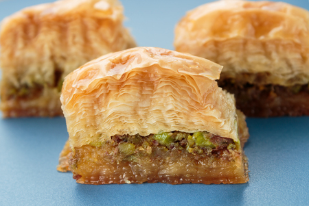 baklava: Baklava with pistachios and walnuts