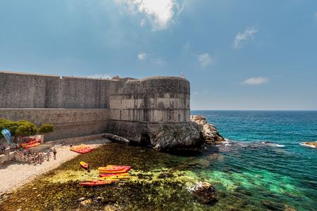pila: Fortress Bokar in Dubrovnik, Croatia. Fort Bokar is the key point in the defense of the Pila Gate. Editorial