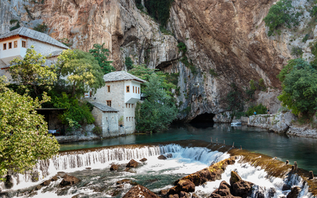 Tekija (Tekke) Blagaj Dervish house, important monument of the early Ottoman period in Bosnia and Herzegovina Stock Photo