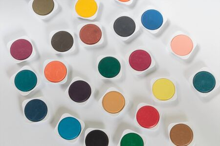 Watercolor palette view from above