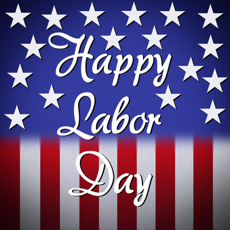 Happy labor day background, greeting card Stock Photo