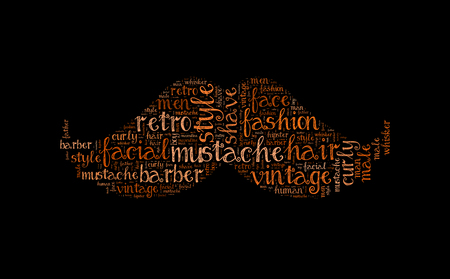 Mustache word cloud, Fathers day illustration Stock Photo