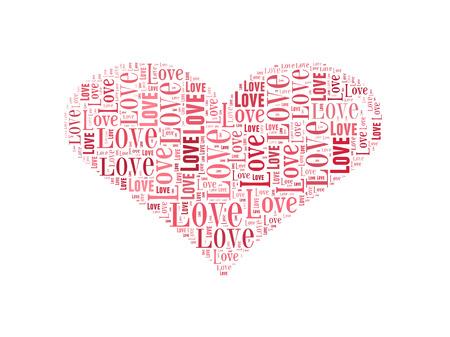 forme: Heart shape word cloud