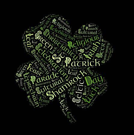 celtic background: St. Patricks day  word cloud, Celtic typography background