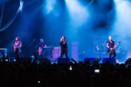 ZAGREB, CROATIA - JUNE 27, 2017: Zagreb Rockfest. The Cult band on stage during the Rock Fest in Zagreb, Croatia Editorial