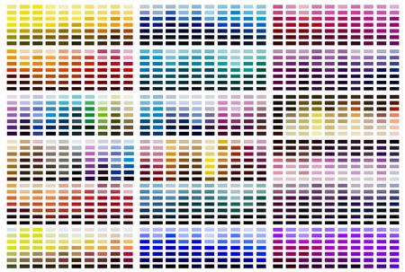 Palette d'échantillons de référence de couleur