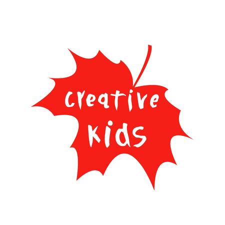 Vector illustration of creative kids text