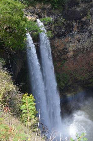 Walua Falls Kauaii Hawaii Stok Fotoğraf
