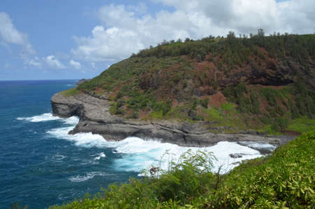 Coastal mountain in the Kilauea Point National Wildlife Refuge