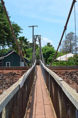 Drehbrücke von Hanapepe, Kauai'i, Hawai'i Standard-Bild - 80440549