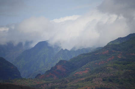Mountains kissed by the Clouds in Waimea, Kauai, Hawaii