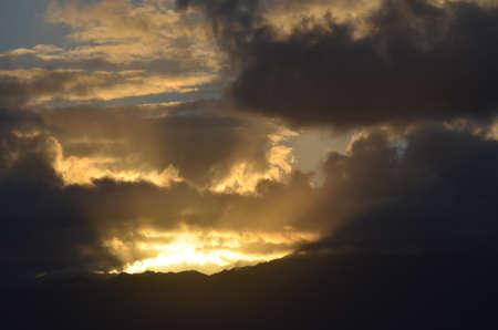 Sonnenuntergang am späten Tag in Kapaa, Kauai, Hawaii Standard-Bild - 85406537