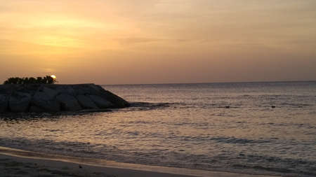 Sunset in Montego Bay, Jamaica Stok Fotoğraf