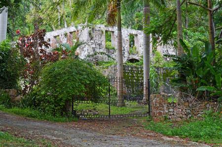 Ruins of a Jamaican Plantation Stok Fotoğraf