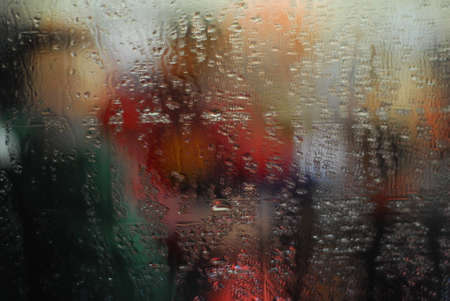 blured: Blured colorful abstract on wet mirror No.1