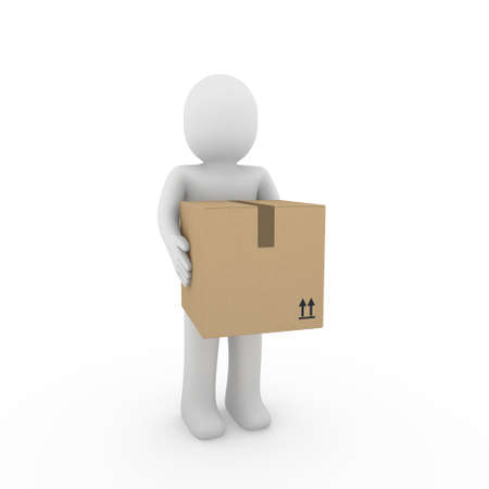 moving crate: 3d, human, shipping, transport, container, box, package, man