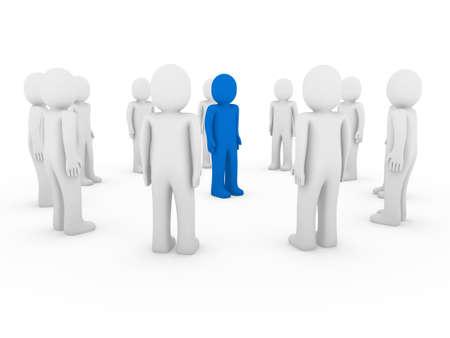 3d, human, circle, blue, white, teamwork, business, group photo