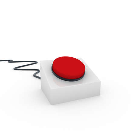 3d button red on off start stop push Stock Photo - 9382143