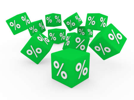 3d sale cube green business sell buy white photo