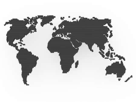 oriente: mundo, mapa, tierra, Europa, América, África, asia