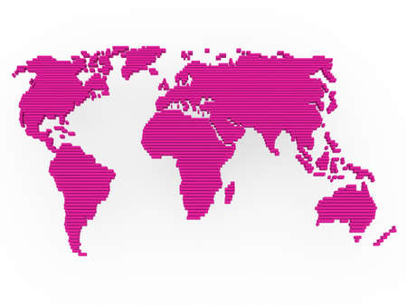 world, map , earth, europe, america, africa, pink photo