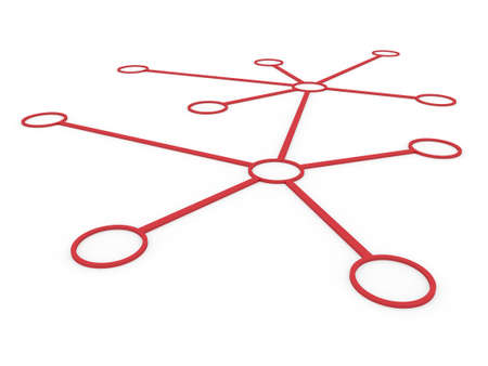 network server: 3d network connection circle red social global internet Stock Photo